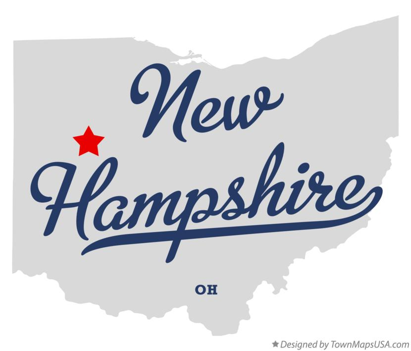 Map of New Hampshire Ohio OH