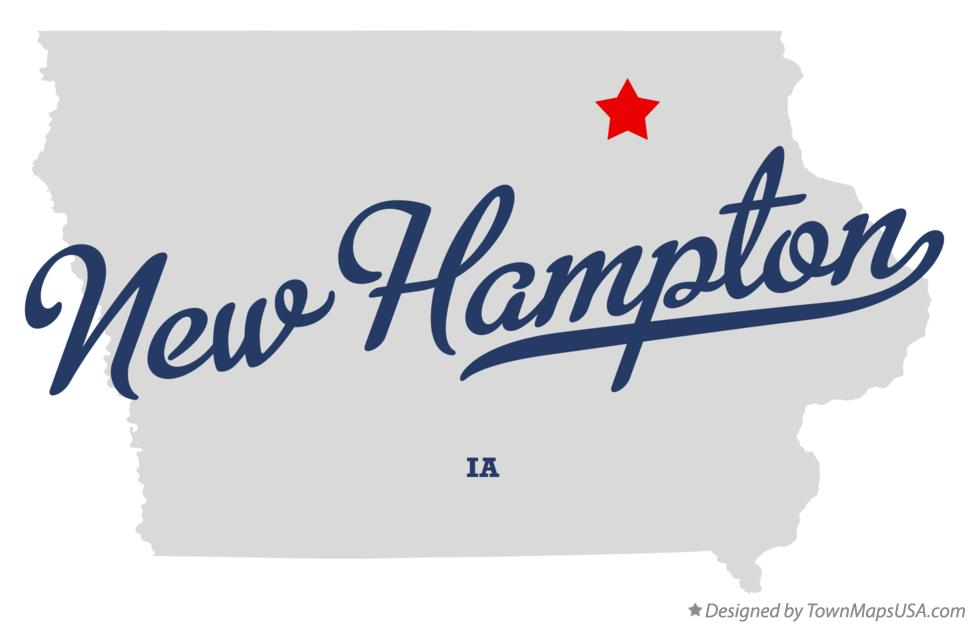Map of New Hampton Iowa IA