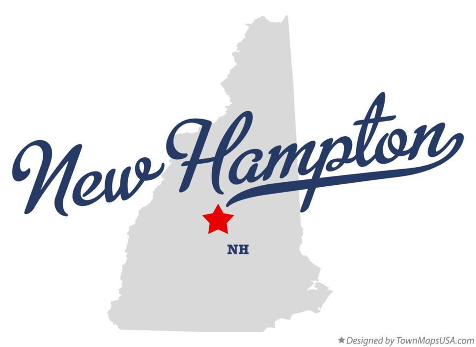 Map of New Hampton New Hampshire NH
