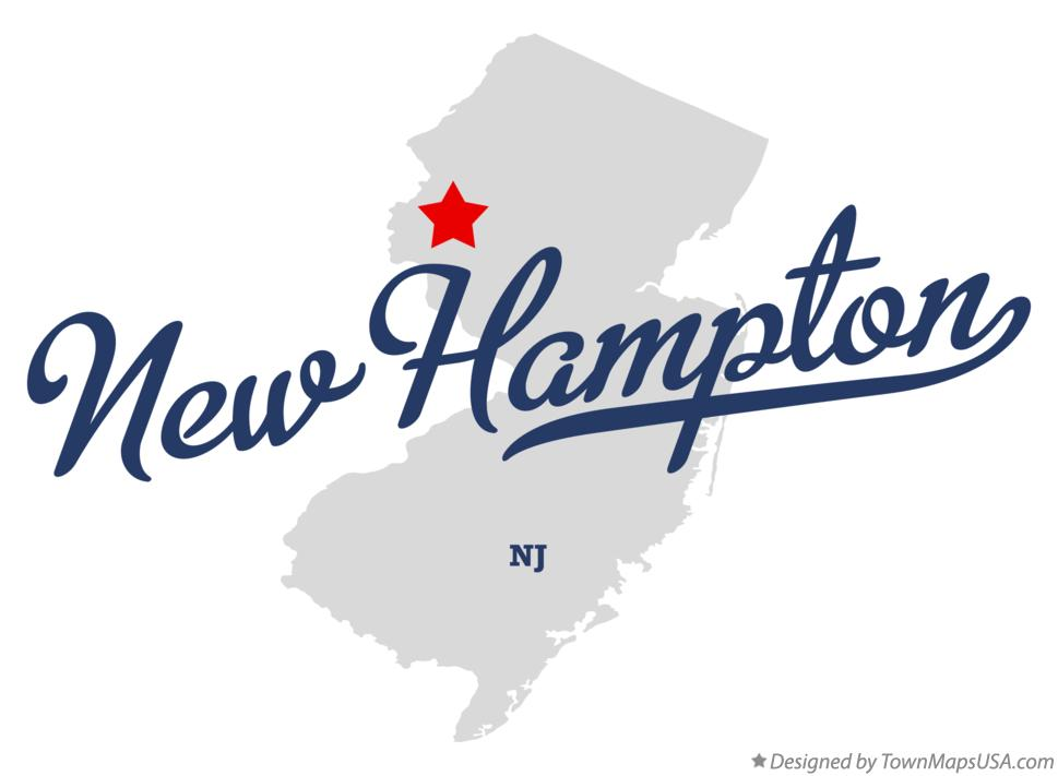 Map of New Hampton New Jersey NJ