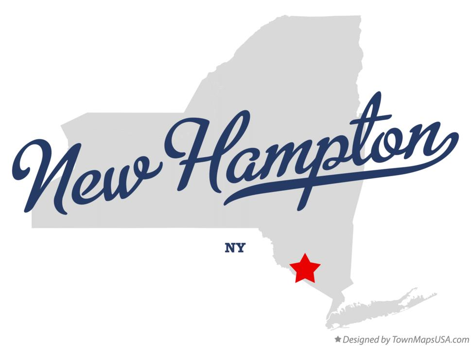 Map of New Hampton New York NY