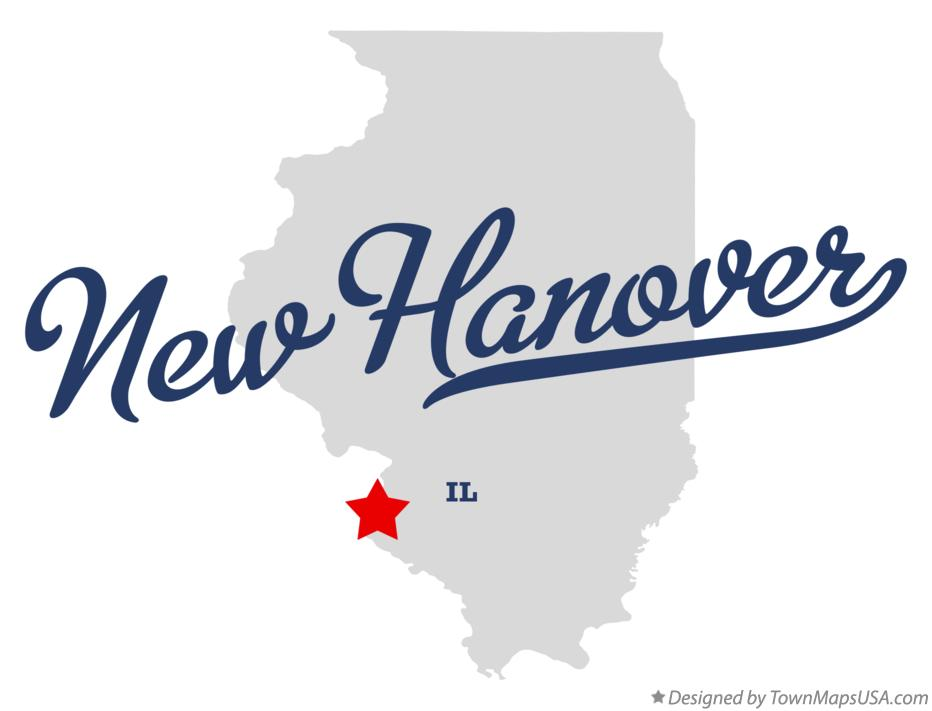 Map of New Hanover Illinois IL