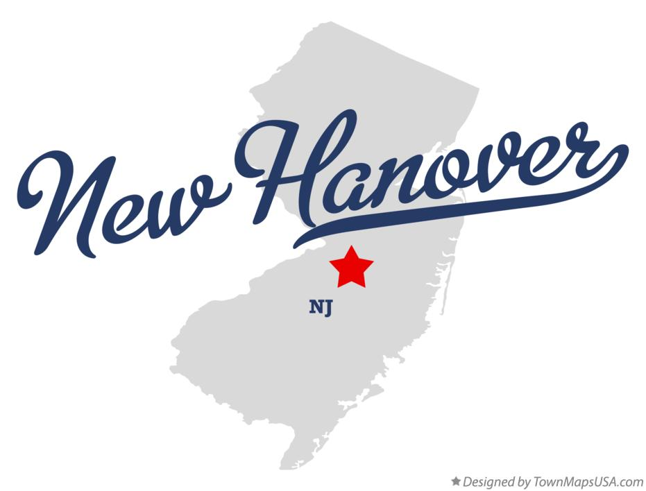 Map of New Hanover New Jersey NJ