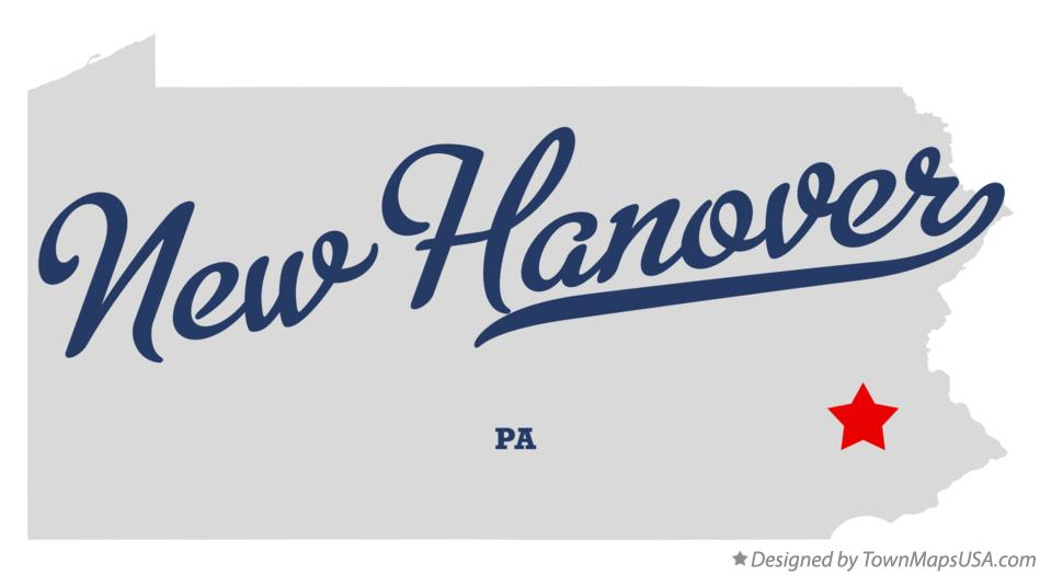 Map of New Hanover Pennsylvania PA
