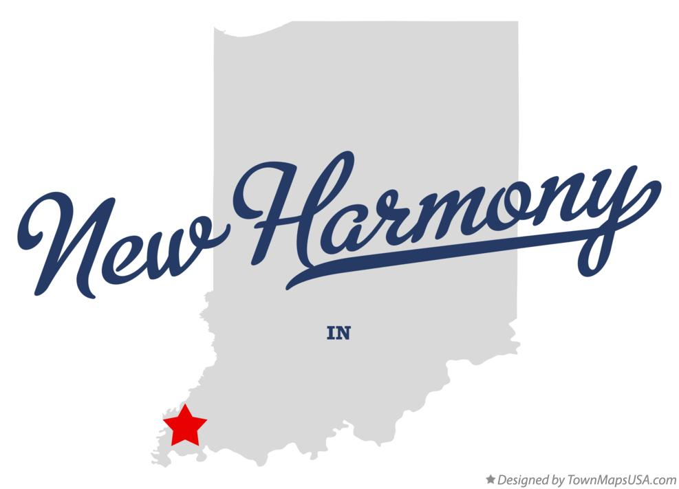 Map of New Harmony Indiana IN