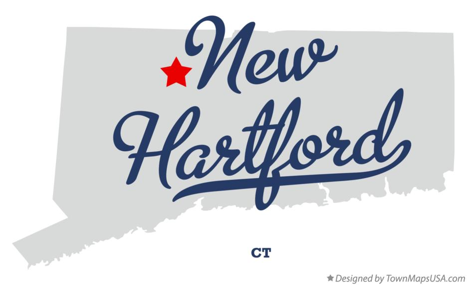 Map of New Hartford Connecticut CT