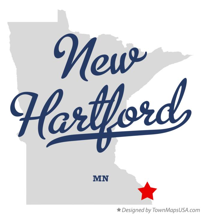 Map of New Hartford Minnesota MN