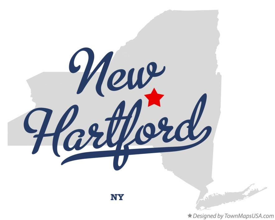 Map of New Hartford New York NY