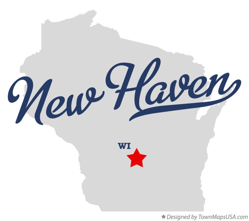 Map of New Haven Wisconsin WI