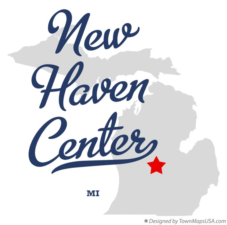 Map of New Haven Center Michigan MI