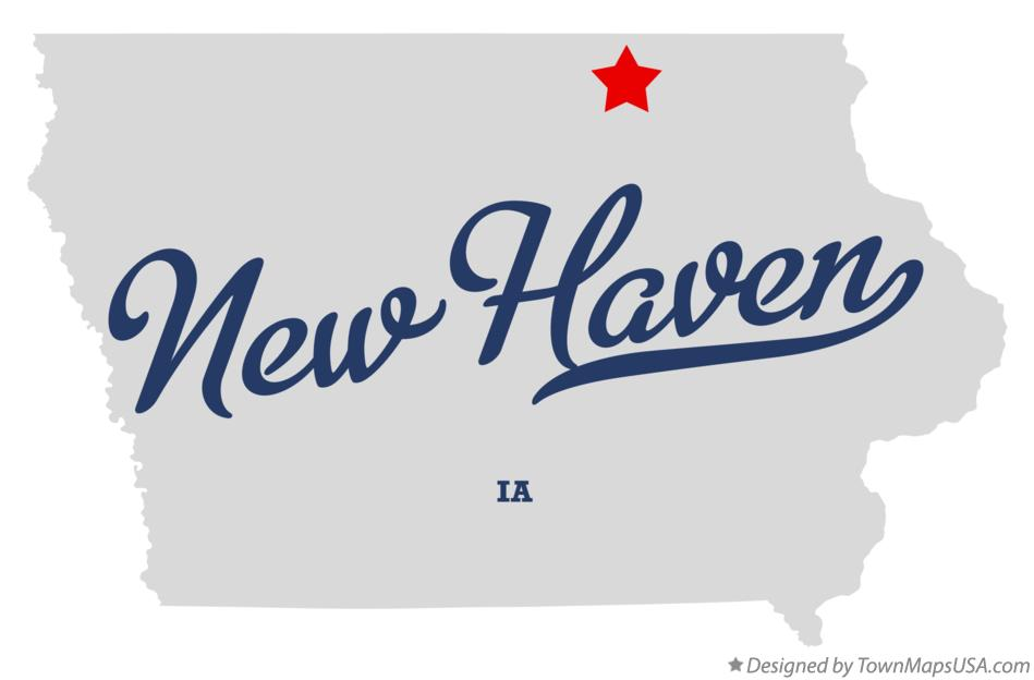 Map of New Haven Iowa IA