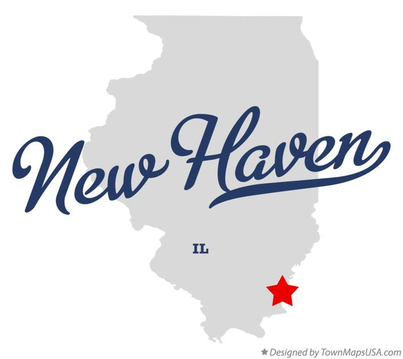 Map of New Haven Illinois IL