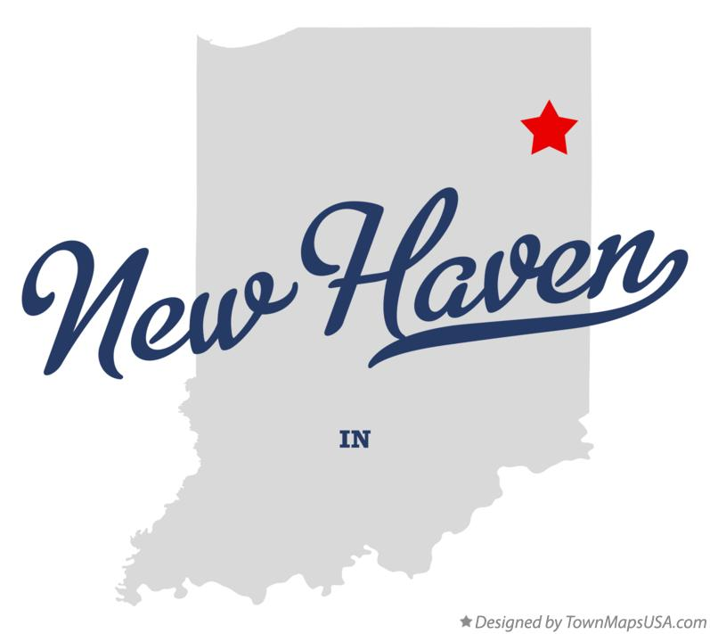 Map of New Haven Indiana IN
