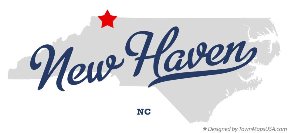 Map of New Haven North Carolina NC