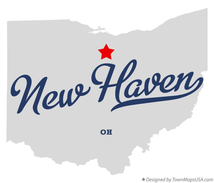 Map of New Haven Ohio OH