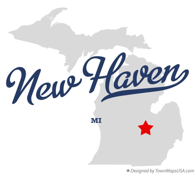 Map of New Haven Michigan MI