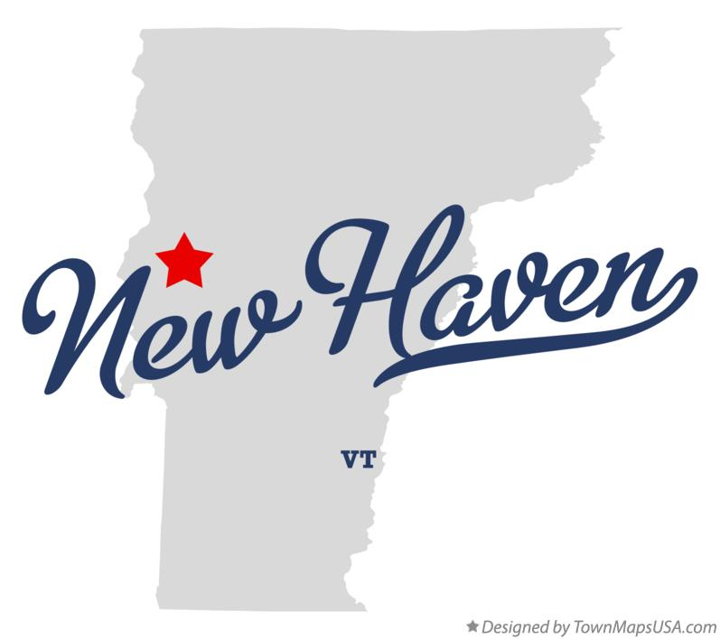 Map of New Haven Vermont VT