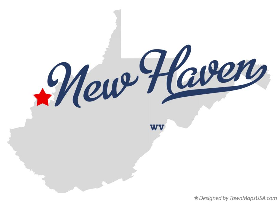 Map of New Haven West Virginia WV