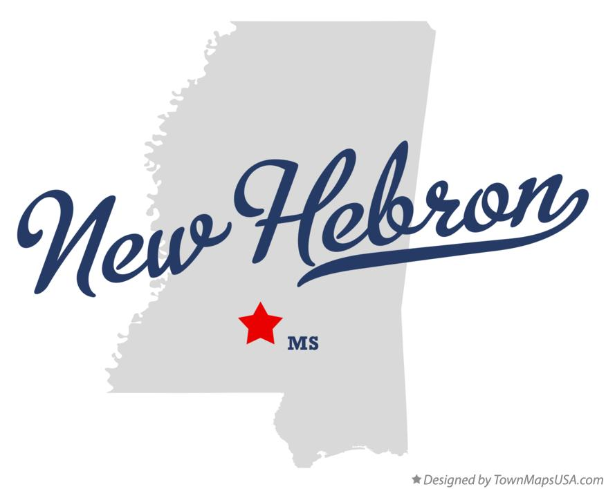 Map of New Hebron Mississippi MS
