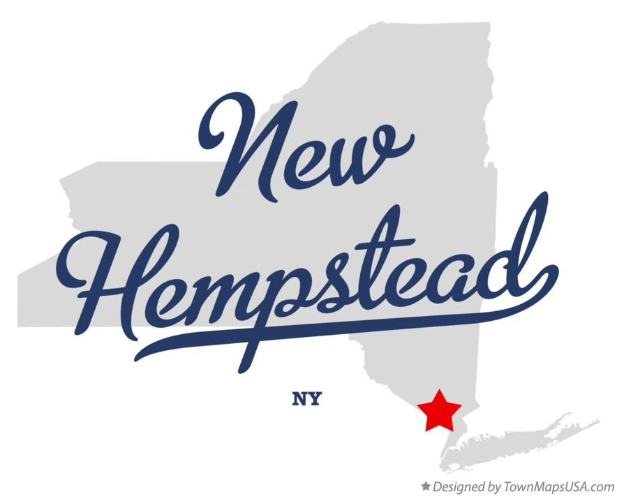 Map of New Hempstead New York NY