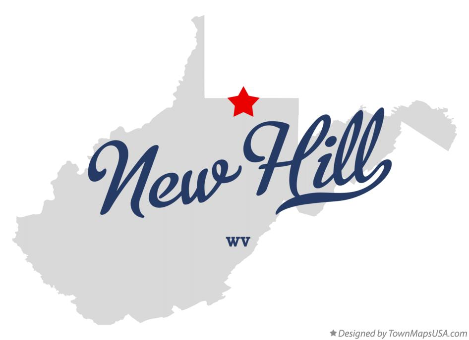 Map of New Hill West Virginia WV