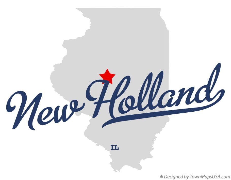 Map of New Holland Illinois IL