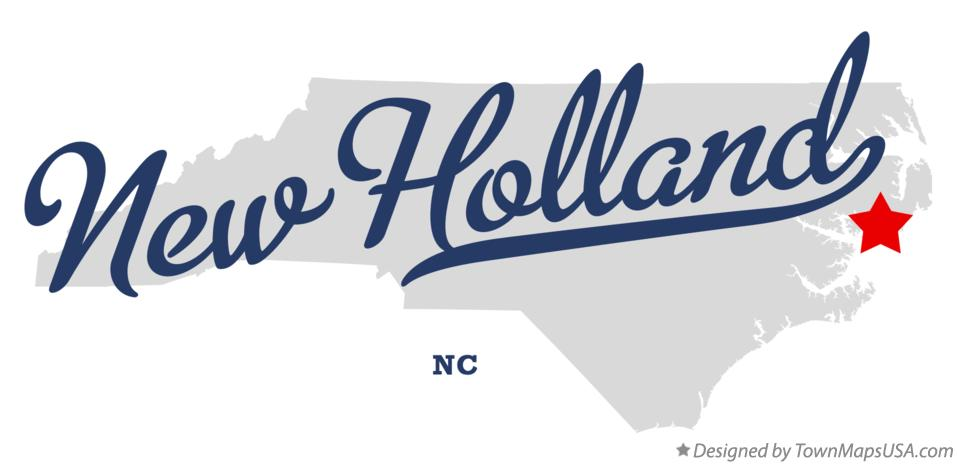Map of New Holland North Carolina NC