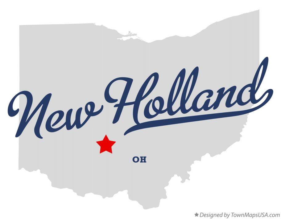 Map of New Holland Ohio OH
