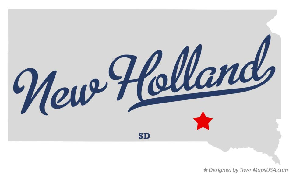 Map of New Holland South Dakota SD