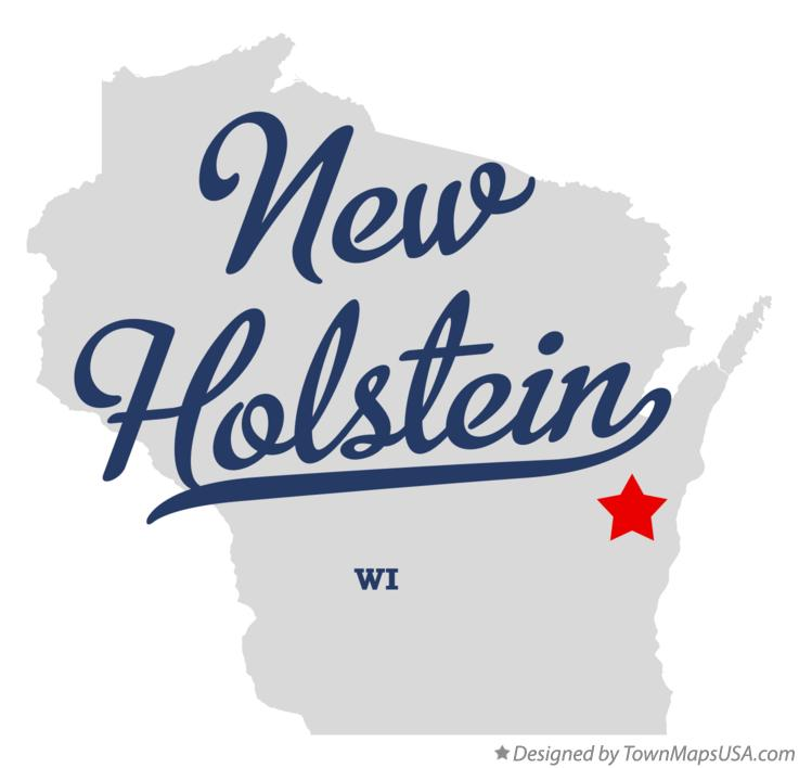 Map of New Holstein Wisconsin WI