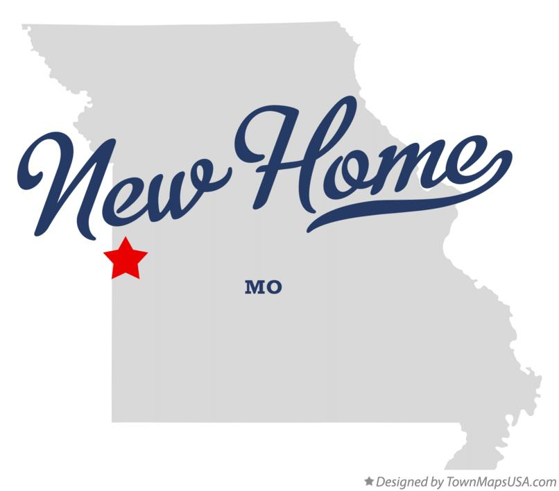 Map of New Home Missouri MO