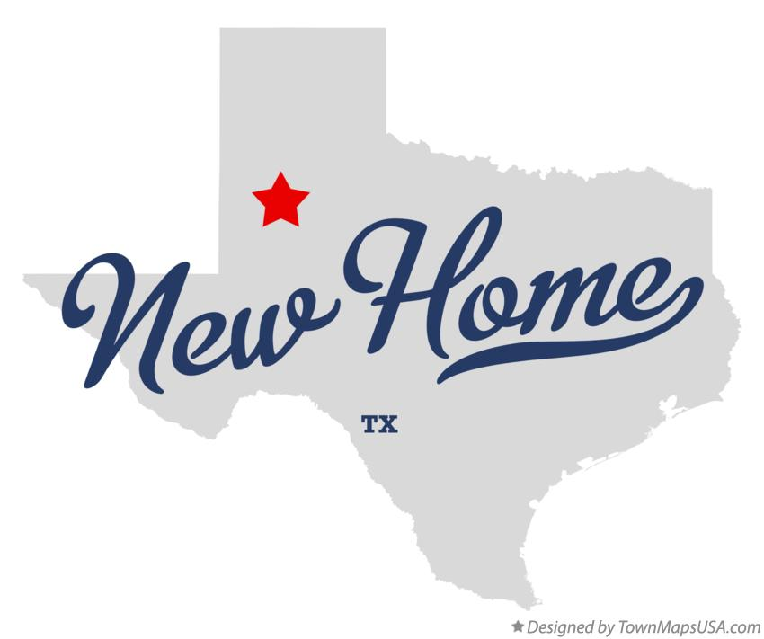Map of New Home Texas TX