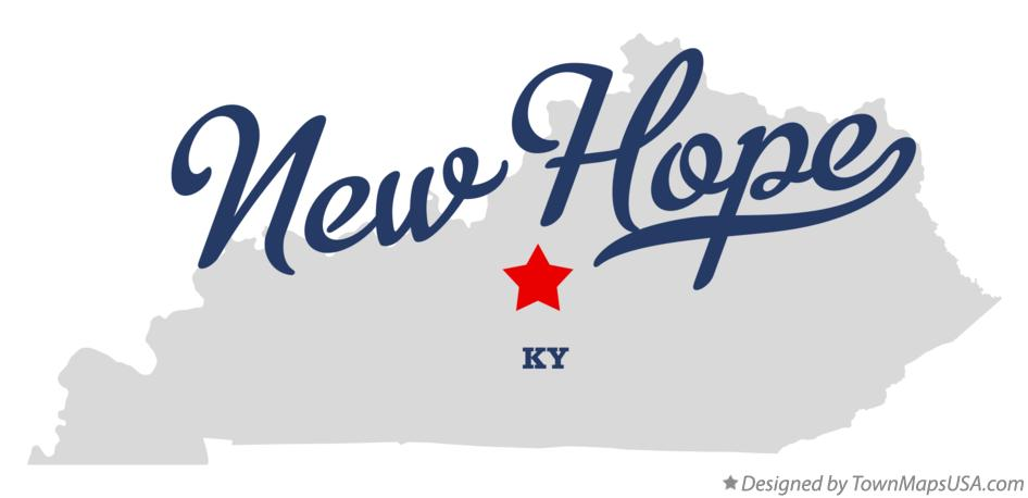 Map of New Hope Kentucky KY