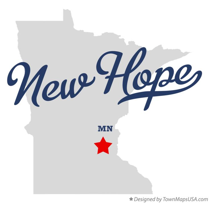 Map of New Hope Minnesota MN
