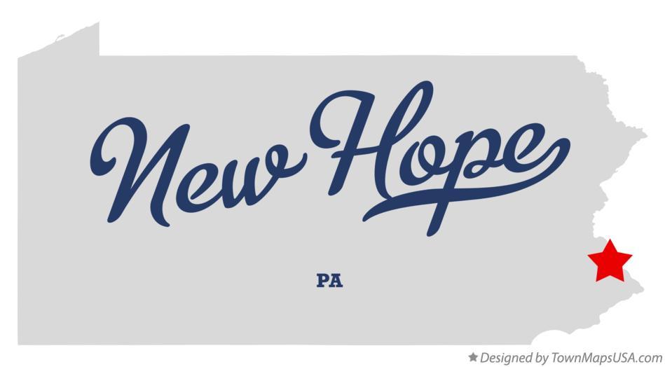 map of new hope pa pennsylvania