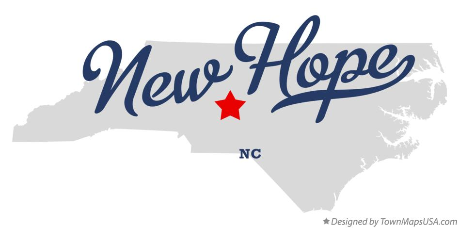 Map of New Hope North Carolina NC