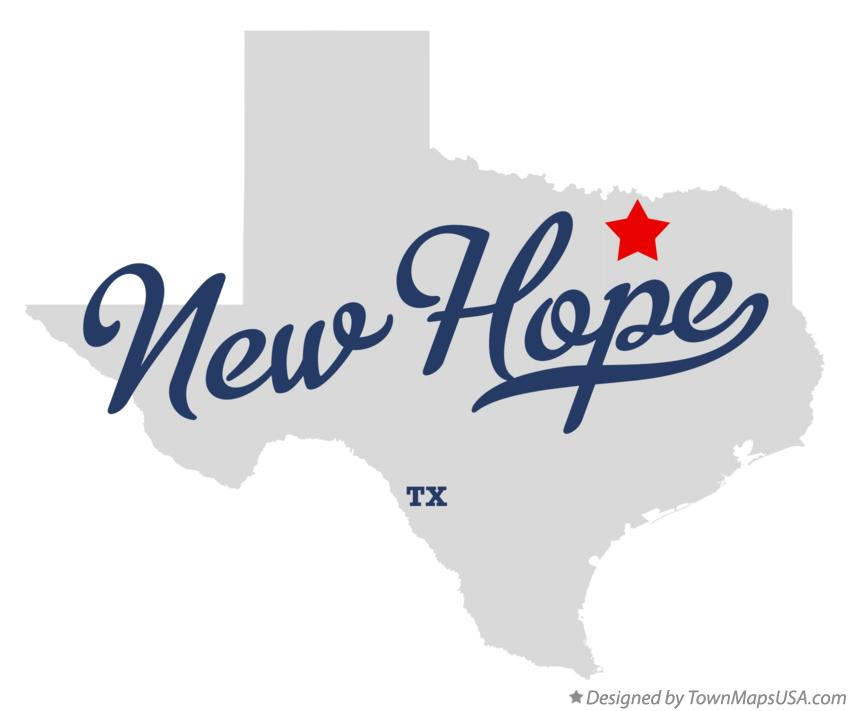 Map of New Hope Texas TX