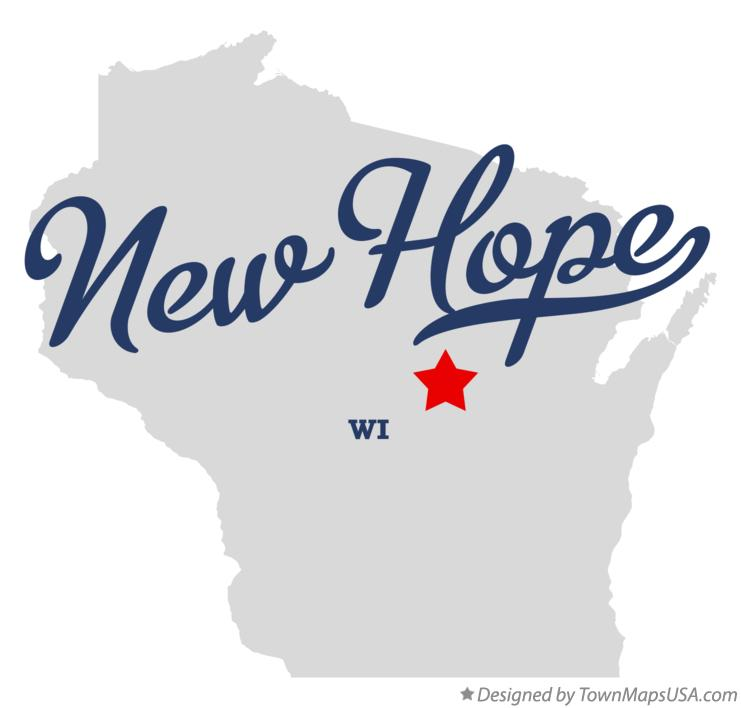 Map of New Hope Wisconsin WI