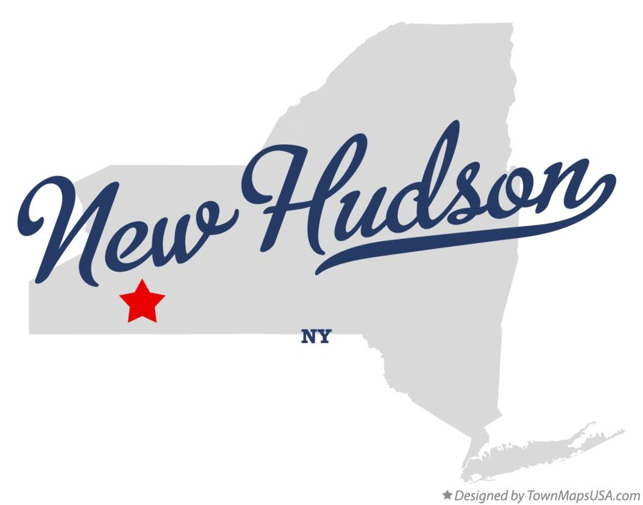 Map of New Hudson New York NY