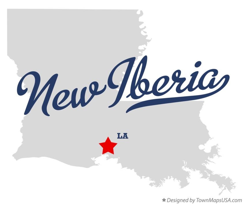 New Iberia Louisiana Map.Map Of New Iberia La Louisiana