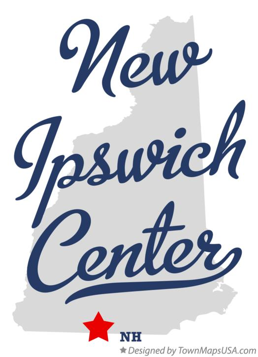Map of New Ipswich Center New Hampshire NH
