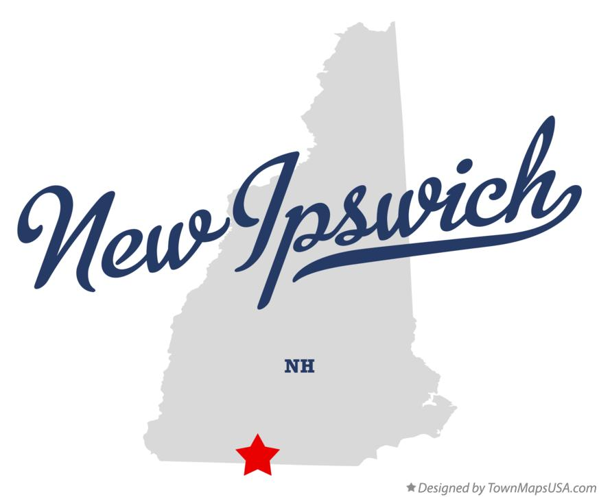 Map of New Ipswich New Hampshire NH