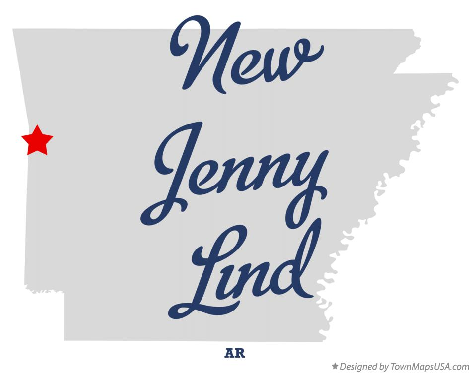 Map of New Jenny Lind Arkansas AR