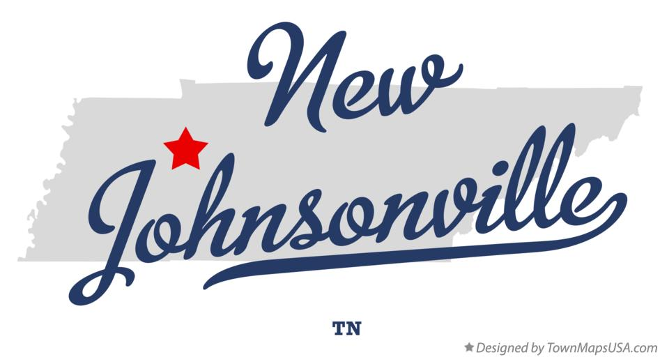 Map of New Johnsonville Tennessee TN