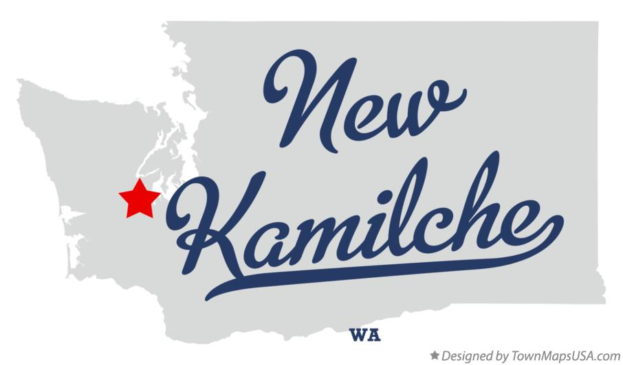Map of New Kamilche Washington WA