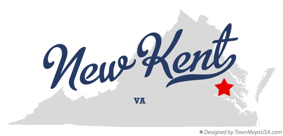 Map of New Kent Virginia VA