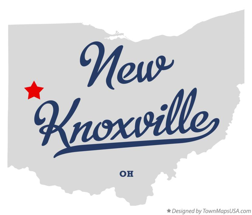 Map of New Knoxville Ohio OH