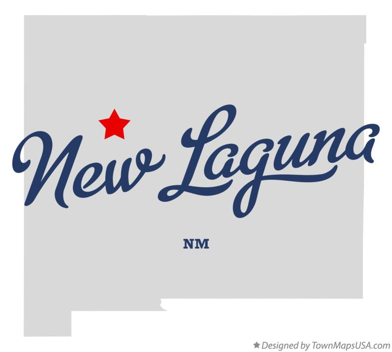 Map of New Laguna New Mexico NM