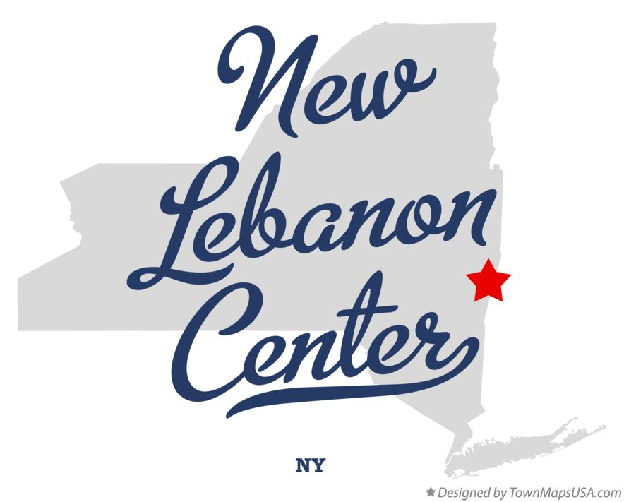 Map of New Lebanon Center New York NY