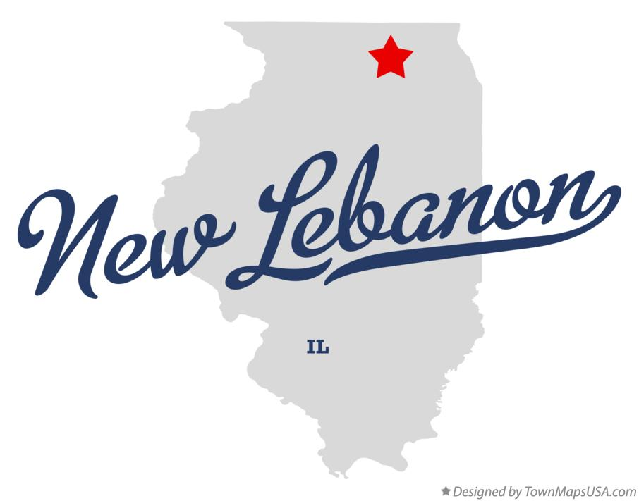 Map of New Lebanon Illinois IL